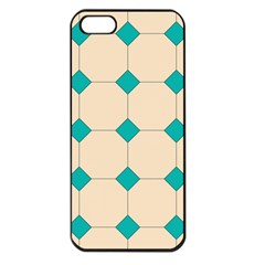 Tile Pattern Wallpaper Background Apple Iphone 5 Seamless Case (black)