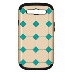 Tile Pattern Wallpaper Background Samsung Galaxy S Iii Hardshell Case (pc+silicone)