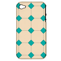 Tile Pattern Wallpaper Background Apple Iphone 4/4s Hardshell Case (pc+silicone)