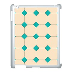 Tile Pattern Wallpaper Background Apple Ipad 3/4 Case (white)