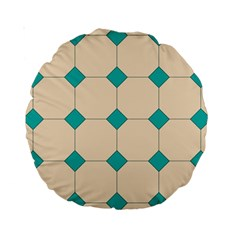Tile Pattern Wallpaper Background Standard 15  Premium Round Cushions