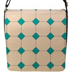 Tile Pattern Wallpaper Background Flap Messenger Bag (s)