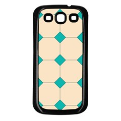 Tile Pattern Wallpaper Background Samsung Galaxy S3 Back Case (black)