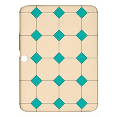 Tile Pattern Wallpaper Background Samsung Galaxy Tab 3 (10 1 ) P5200 Hardshell Case