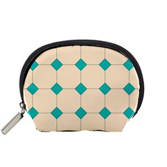 Tile Pattern Wallpaper Background Accessory Pouches (small)