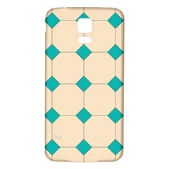 Tile Pattern Wallpaper Background Samsung Galaxy S5 Back Case (white)