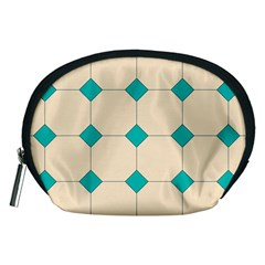 Tile Pattern Wallpaper Background Accessory Pouches (medium)