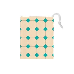Tile Pattern Wallpaper Background Drawstring Pouches (small)