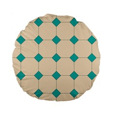 Tile Pattern Wallpaper Background Standard 15  Premium Flano Round Cushions