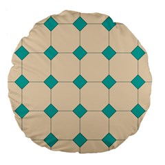 Tile Pattern Wallpaper Background Large 18  Premium Flano Round Cushions