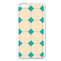 Tile Pattern Wallpaper Background Apple Iphone 6 Plus/6s Plus Enamel White Case