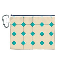 Tile Pattern Wallpaper Background Canvas Cosmetic Bag (l)