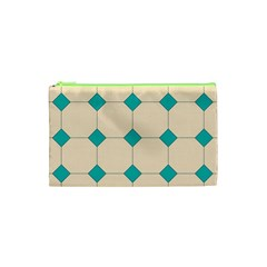 Tile Pattern Wallpaper Background Cosmetic Bag (xs)