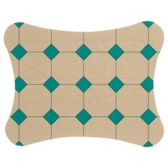 Tile Pattern Wallpaper Background Jigsaw Puzzle Photo Stand (bow)