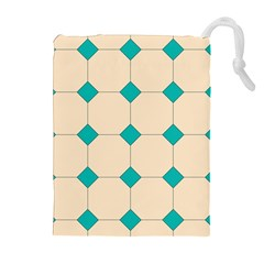 Tile Pattern Wallpaper Background Drawstring Pouches (extra Large)