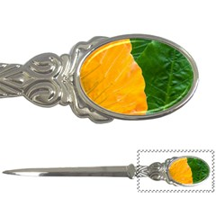 Wet Yellow And Green Leaves Abstract Pattern Letter Openers
