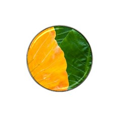 Wet Yellow And Green Leaves Abstract Pattern Hat Clip Ball Marker