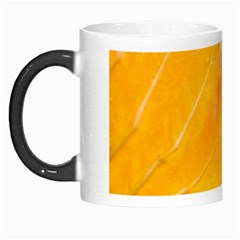 Wet Yellow And Green Leaves Abstract Pattern Morph Mugs