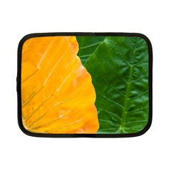 Wet Yellow And Green Leaves Abstract Pattern Netbook Case (small)