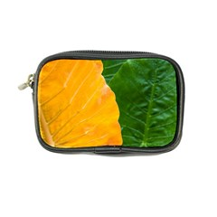 Wet Yellow And Green Leaves Abstract Pattern Coin Purse