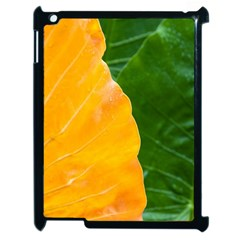 Wet Yellow And Green Leaves Abstract Pattern Apple Ipad 2 Case (black)