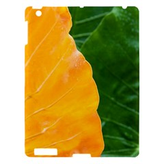 Wet Yellow And Green Leaves Abstract Pattern Apple Ipad 3/4 Hardshell Case