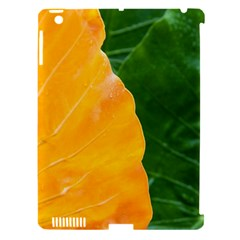 Wet Yellow And Green Leaves Abstract Pattern Apple Ipad 3/4 Hardshell Case (compatible With Smart Cover)