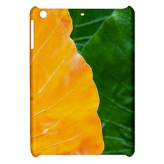 Wet Yellow And Green Leaves Abstract Pattern Apple Ipad Mini Hardshell Case