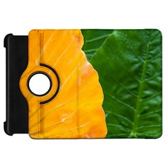 Wet Yellow And Green Leaves Abstract Pattern Kindle Fire Hd 7