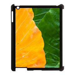 Wet Yellow And Green Leaves Abstract Pattern Apple Ipad 3/4 Case (black)