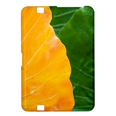 Wet Yellow And Green Leaves Abstract Pattern Kindle Fire Hd 8 9