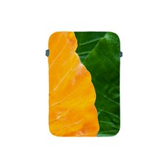Wet Yellow And Green Leaves Abstract Pattern Apple Ipad Mini Protective Soft Cases