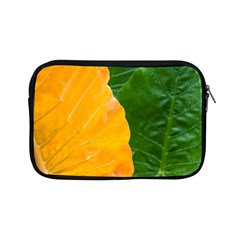 Wet Yellow And Green Leaves Abstract Pattern Apple Ipad Mini Zipper Cases