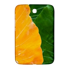 Wet Yellow And Green Leaves Abstract Pattern Samsung Galaxy Note 8 0 N5100 Hardshell Case