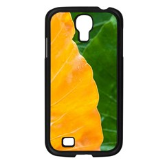 Wet Yellow And Green Leaves Abstract Pattern Samsung Galaxy S4 I9500/ I9505 Case (black)