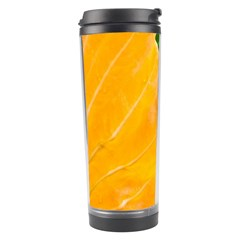Wet Yellow And Green Leaves Abstract Pattern Travel Tumbler
