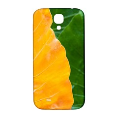 Wet Yellow And Green Leaves Abstract Pattern Samsung Galaxy S4 I9500/i9505  Hardshell Back Case