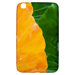 Wet Yellow And Green Leaves Abstract Pattern Samsung Galaxy Tab 3 (8 ) T3100 Hardshell Case