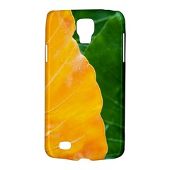 Wet Yellow And Green Leaves Abstract Pattern Galaxy S4 Active