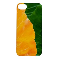 Wet Yellow And Green Leaves Abstract Pattern Apple Iphone 5s/ Se Hardshell Case