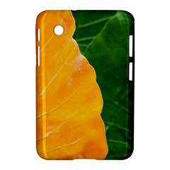 Wet Yellow And Green Leaves Abstract Pattern Samsung Galaxy Tab 2 (7 ) P3100 Hardshell Case