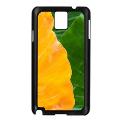 Wet Yellow And Green Leaves Abstract Pattern Samsung Galaxy Note 3 N9005 Case (black)