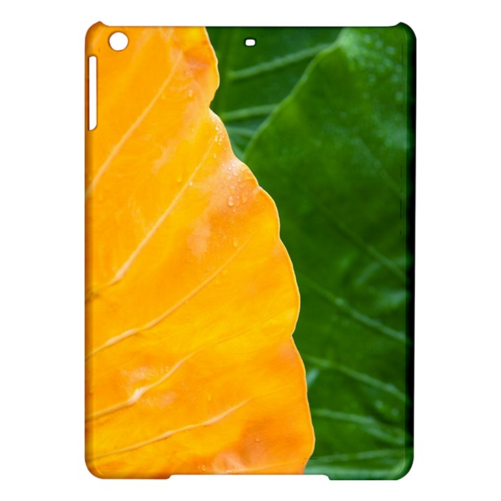 Wet Yellow And Green Leaves Abstract Pattern iPad Air Hardshell Cases