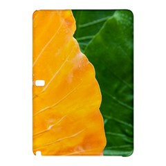 Wet Yellow And Green Leaves Abstract Pattern Samsung Galaxy Tab Pro 12 2 Hardshell Case