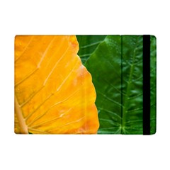 Wet Yellow And Green Leaves Abstract Pattern Ipad Mini 2 Flip Cases