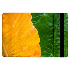 Wet Yellow And Green Leaves Abstract Pattern Ipad Air Flip