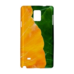 Wet Yellow And Green Leaves Abstract Pattern Samsung Galaxy Note 4 Hardshell Case