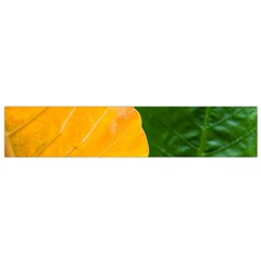 Wet Yellow And Green Leaves Abstract Pattern Flano Scarf (small)