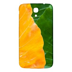 Wet Yellow And Green Leaves Abstract Pattern Samsung Galaxy Mega I9200 Hardshell Back Case