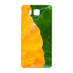Wet Yellow And Green Leaves Abstract Pattern Samsung Galaxy Alpha Hardshell Back Case